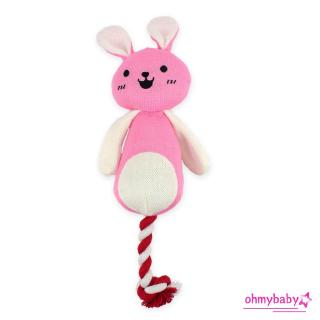 【OMB】Plush knot Pet Toys cuddly Puppy Dog Toy Plush Sound Squeaky Toy for Pet