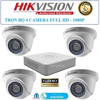 Trọn bộ 4 camera+ Đầu ghi 8 kênh Hikvision