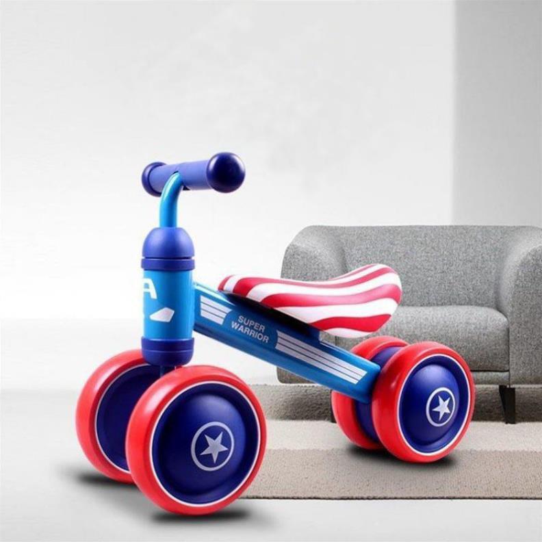 Xe chòi chân 🌟SALE🌟 B.Duck yên da cho bé từ 1 đến 3 tuổi - Xe thăng bằng khung thép, bánh cao su an toàn cho trẻ DC019