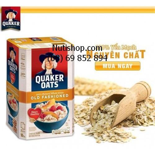 Yến mạch Cán mỏng Quacker Oats Mỹ 2260 g