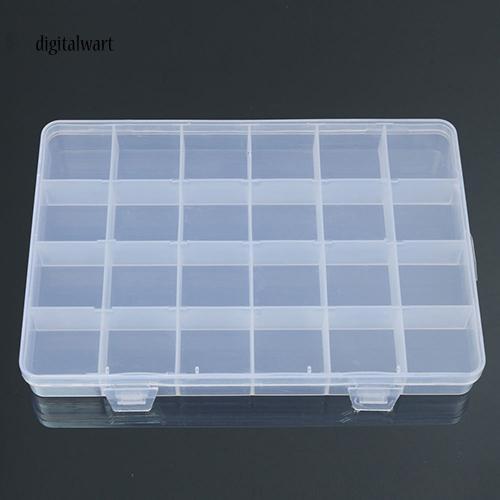 Hộp nhựa trong suốt 24 ô đựng phụ kiện trang sức/dụng cụ nhỏ tiện dụng