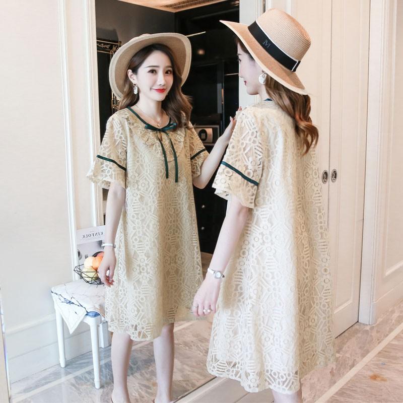 Đầm bầu , váy bầu 2 lớp trẻ trung dễ thươn phong cách HÀN QUỐC