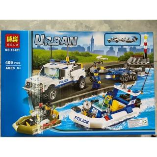 LEGO URBAN 12401 – 409 chi tiết – đội POLICE cứu hộ đường thuỷ