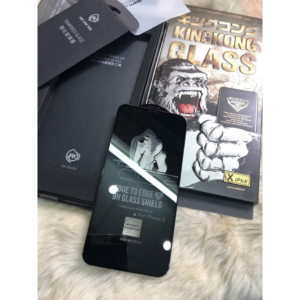 Kính Cường Lực King Kong Cho Iphone Xs Max Full Màn Chống Bám Vân Tay + Loại Cường Lực 9D