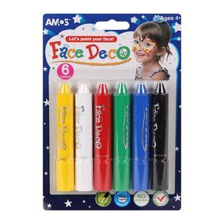 Bút vẽ mặt Amos Face Deco – Vỉ 6 màu (Hàn Quốc)