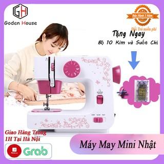 Máy may mini Nhật Bản với 12 kiểu máy khác nhau, phù hợp với mọi loại vải, tặng 10 kim máy – Bảo hành 12 tháng.