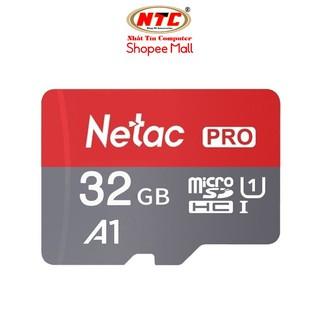 Thẻ nhớ MicroSDXC Netac Pro A1 32GB 667x U1 2K 98MB/s - Không Box (Xám)