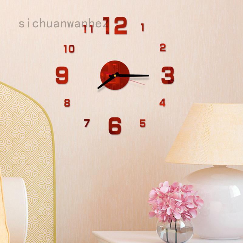 Sichuanwanhe2 Đồng Hồ Treo Tường Chất Liệu Acrylic 3d Jiubang1 Newmoon Yingcui1234