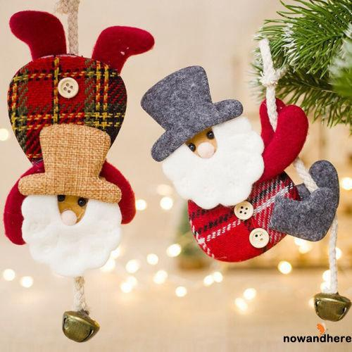 OVW-Christmas Santa Cute Ornaments Festival Party Xmas Tree Hanging Decoration
