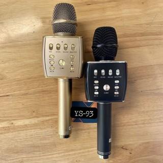 Mic Hát Karaoke Bluetooth không dây YS93 - Tích Hợp Loa Bass Dùng Hát Tại Nhà Hoặc Livetream