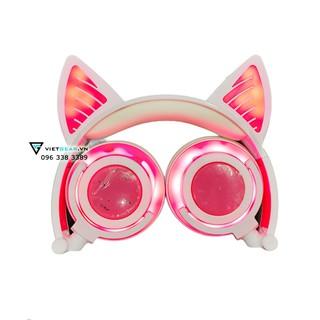 Tai nghe tai mèo Bluetooth Sunshine siêu cute, phiên bản bluetooth cực đỉnh