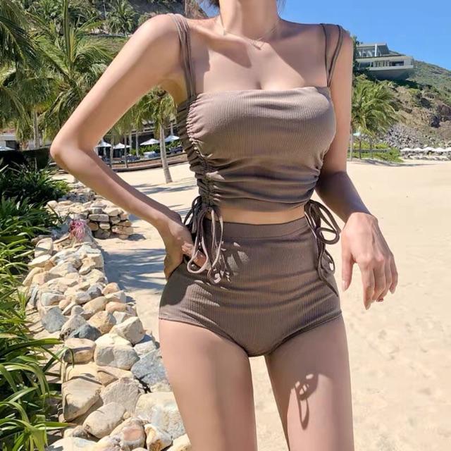 [Mã WAMT10K giảm 10k cho đơn 0k] [CÓ SẴN ĐỦ SIZE - ẢNH THẬT] Bikini đi biển cạp cao Quảng Châu