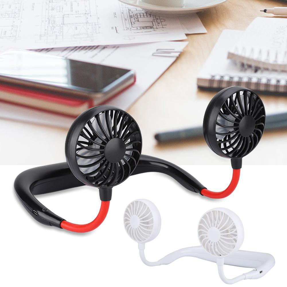 Quạt cầm tay USB mini đeo cổ dành cho người lười hoặc tập GYM