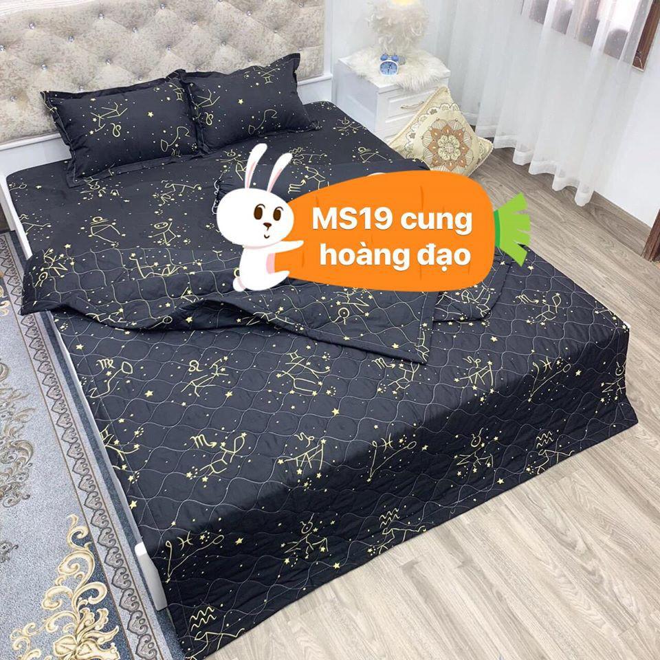 [Free ship-Xả hàng]Ga trải giường 1m 1m2 1m4 1m5 1m6 1m8 cotton poly-cung hoàng đạo