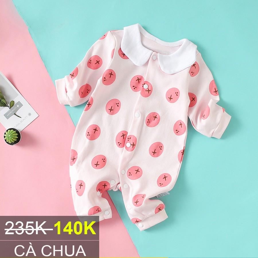Bodysuit Body dài tay Cotton cho bé trai bé gái 0-13 tháng tuổi Hàng Quảng châu xuất Nhật SL01