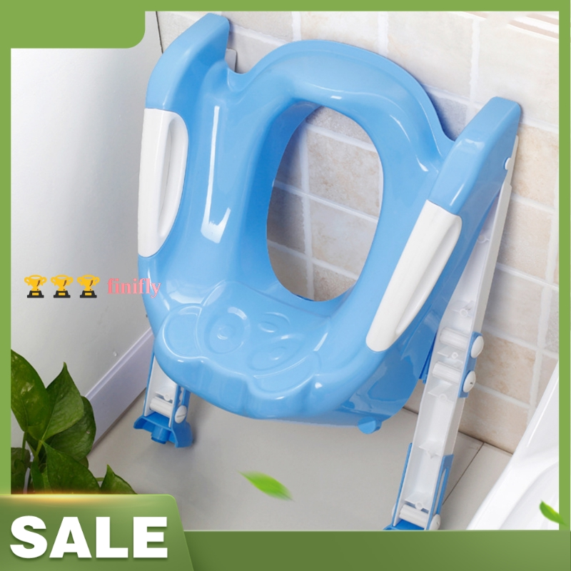 finifly Folding Baby Potty Training Seat Baby Children Infant Toilet Seat with Adjustable Ladder