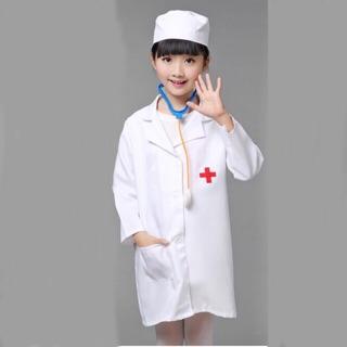 Bộ Hoá Trang Áo Bác Sĩ Cho Bé Tập Làm Bác Sĩ