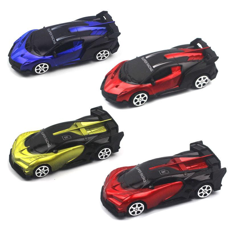 Children's Plastic Toy Pull Back Car