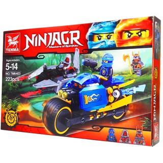 Bộ Lego Xếp Hình Ninjago Siêu Moto Chiến Đấu Và Phi Thuyền. Gồm Có 223 Chi Tiết. Lego Ninjago Lắp Ráp Đồ Chơi Cho Bé