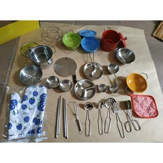Bộ đồ chơi nấu bếp inox màu 33pcs cho bé (nhập mã NHAMNOEL) giảm giá 50k