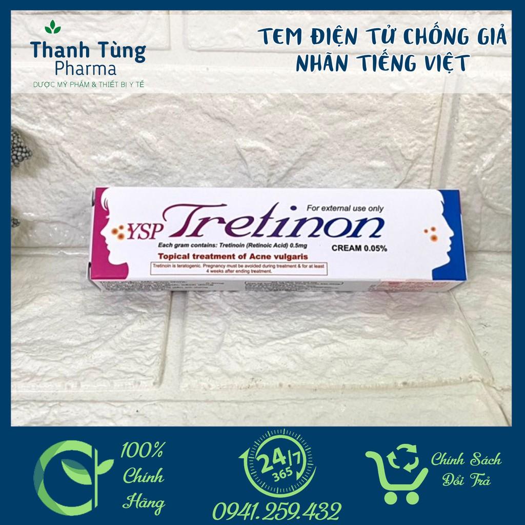 Tretinoin YSP⚜️CHÍNH HÃNG⚜️ Tretinon 0.05% hỗ trợ giảm mụn trứng cá mụn viêm mụn đầu đen mụn ẩn, chống lão hoá