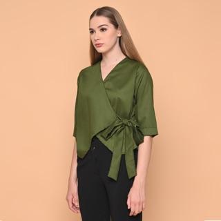 Áo kiểu Kimono màu xanh lá cây 1904079 thumbnail
