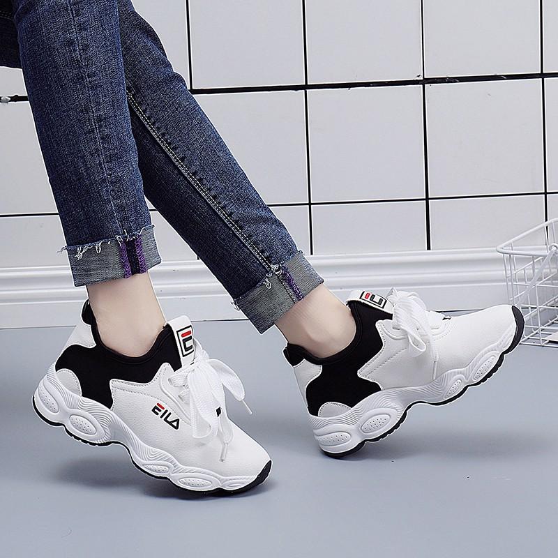 shopee picks 2019 ฤดูใบไม้ผลิรองเท้ากีฬาใหม่/หญิงเกาหลีฮาราจูกุออลจัง