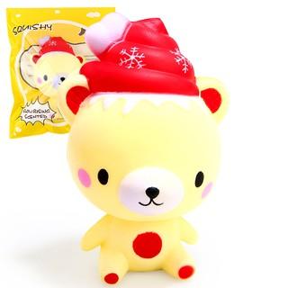 cChristmas Bear Squishy Toys Soft Doll Slow Rising Cream Scented TOYz