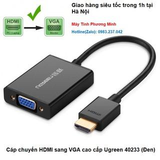 [Mã ELFLASH5 giảm 20K đơn 50K] Cáp chuyển HDMI sang VGA cao cấp Ugreen 40233 (Đen)- Sản phẩm chính hãng BH 18 tháng