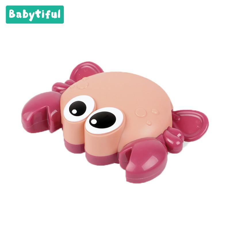 Babytiful Baby Bath Toys Cartoon Crab-Shaped Clockwork Toy Baby Shower Game Boys For Boys Gifts