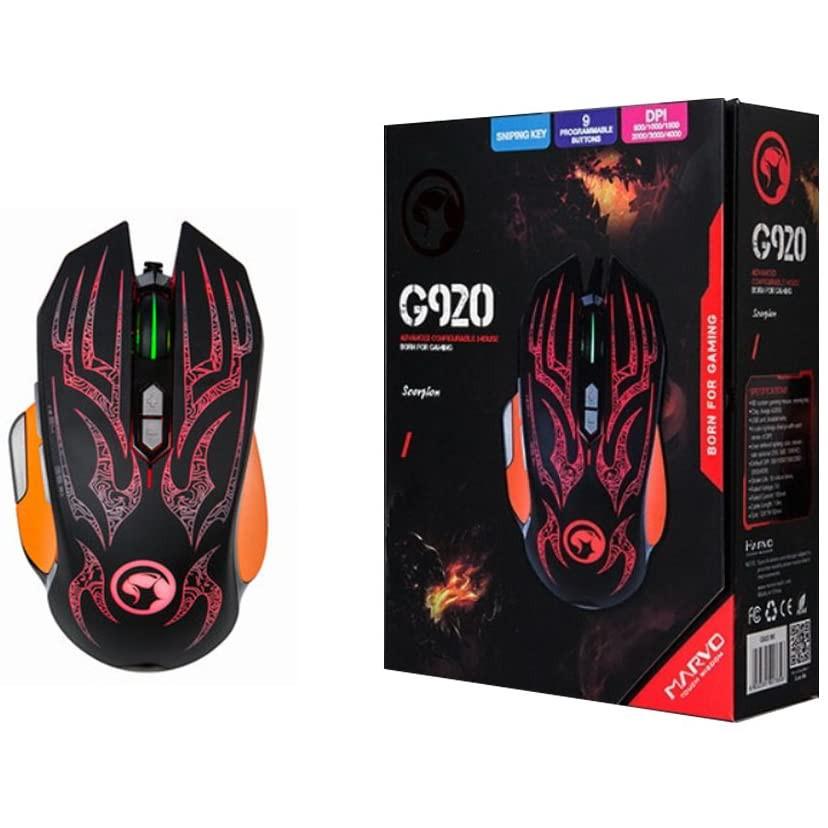 Chuột máy tính có dây usb 2.0 chuyên game Marvo G920 có đèn LED