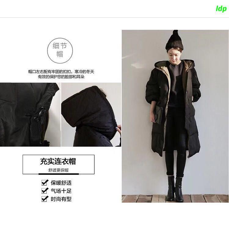 Áo khoác phao dáng dài nhiều kích cỡ sành điệu cho nữ