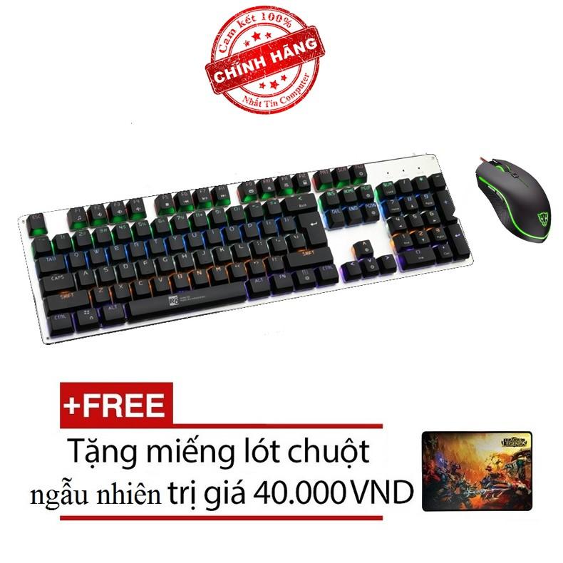Bộ bàn phím cơ và chuột LED chơi Game R8 G100 - MOTOSPEED V40 (Đen) + Tặng kèm lót chuột - 2539704 , 410047478 , 322_410047478 , 1143000 , Bo-ban-phim-co-va-chuot-LED-choi-Game-R8-G100-MOTOSPEED-V40-Den-Tang-kem-lot-chuot-322_410047478 , shopee.vn , Bộ bàn phím cơ và chuột LED chơi Game R8 G100 - MOTOSPEED V40 (Đen) + Tặng kèm lót chuột