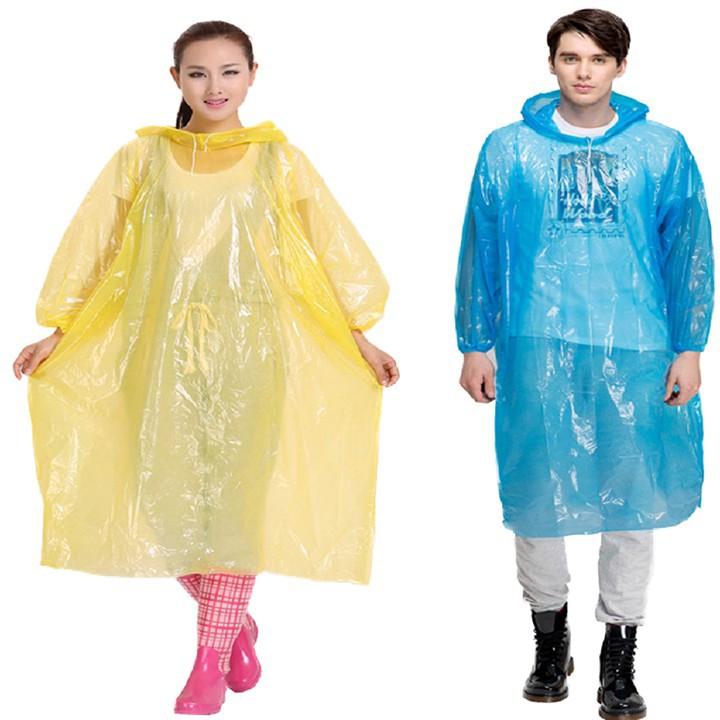 Áo mưa nilon mỏng, áo mưa dùng 1 lần - SỈ, LẺ TOÀN QUỐC