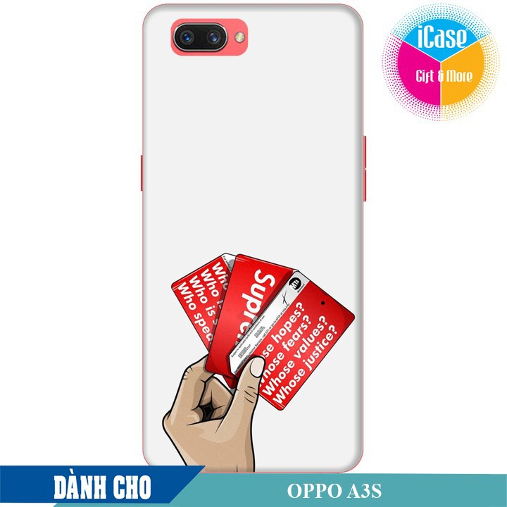Ốp lưng nhựa dẻo dành cho Oppo A3S in hình Superme