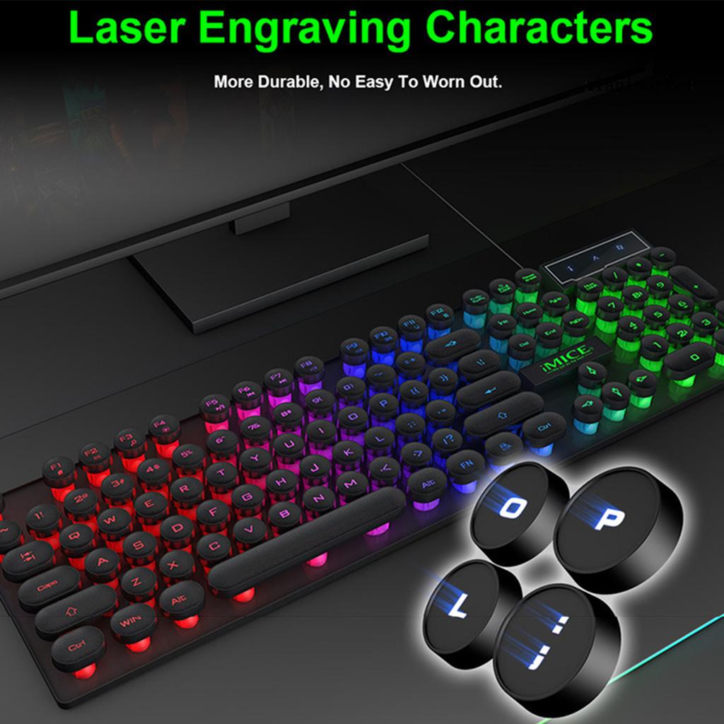 Bàn Phím Imice Ak-800 Có Đèn Laser Độc Đáo Cho Laptop