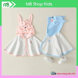 Áo choàng chống nắng hình Thỏ cute cho bé 6-18kg QATE663