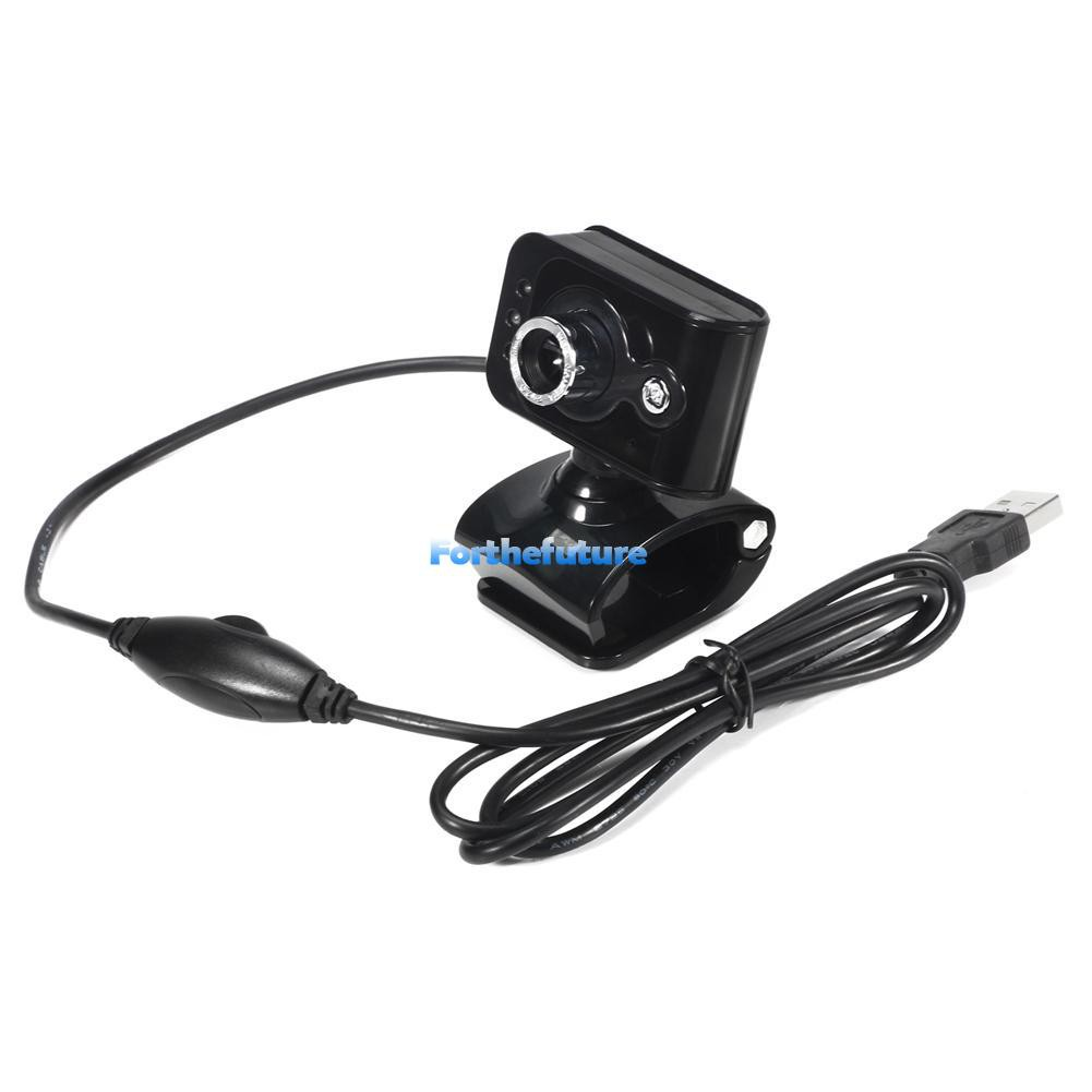 ❃FOR❃ 20MP USB 2.0 HD Webcam Camera 3 LED WebCam Built-in MIC for PC Laptop
