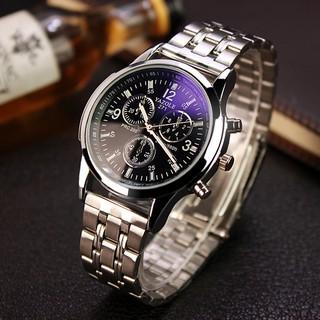A20 Đồng hồ nam YAZOLE thời trang Hàn Quốc dây thép thumbnail