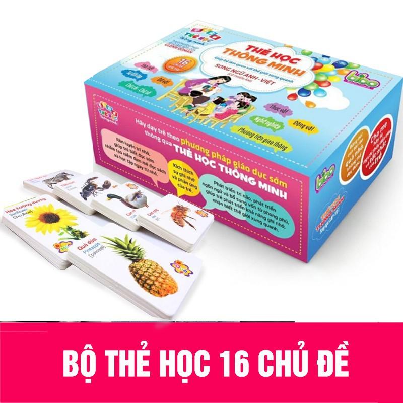 Bộ Thẻ Học Thông Minh Flashcards 16 Chủ Đề 416 Thẻ Học Song Ngữ Anh-Việt Cho Bé