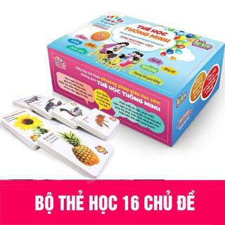 Bộ Thẻ Học Thông Minh Flashcards 16 Chủ Đề 416 Thẻ Học Song Ngữ Anh-Việt Cho Bé thumbnail