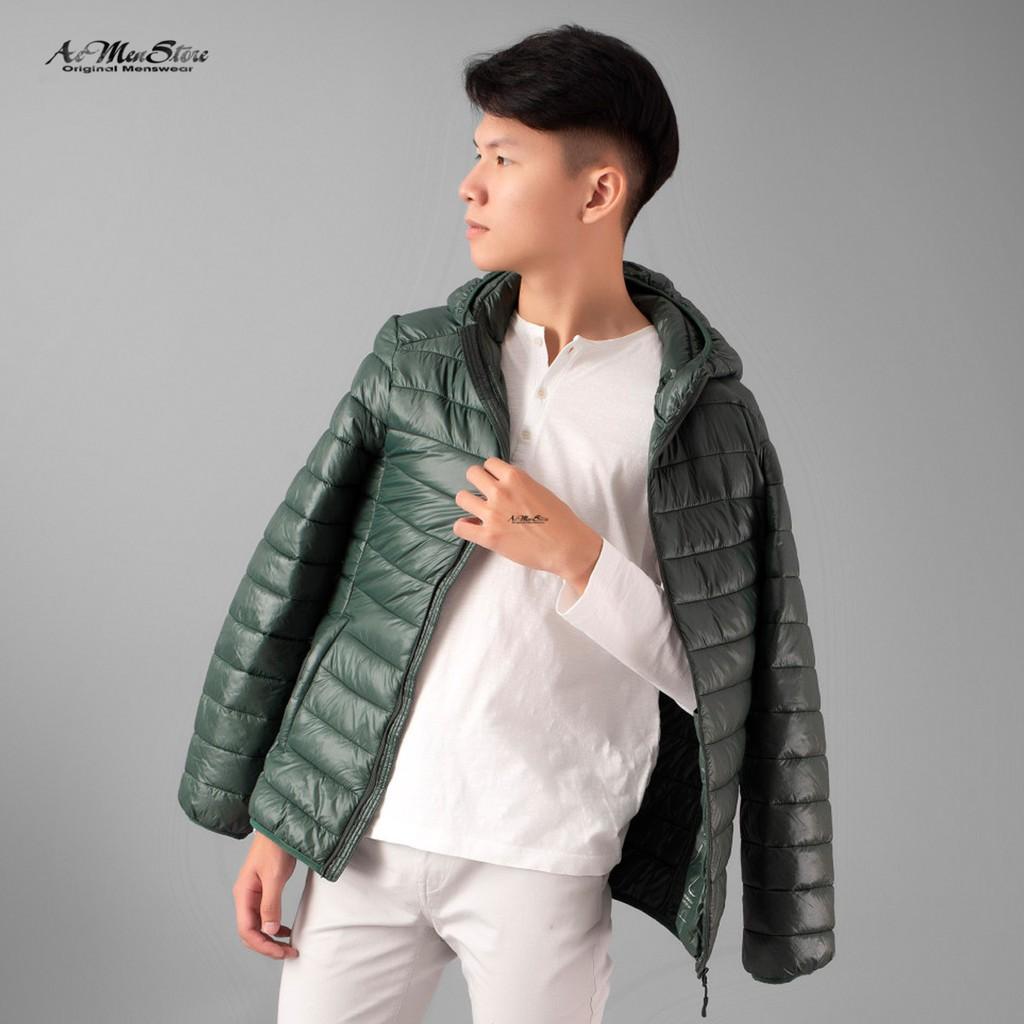 Áo khoác nam vải dù có mũ 5 màu AK117607 hàng cao cấp xuất khẩu Hàn quốc của Routine - Áo khoác dù