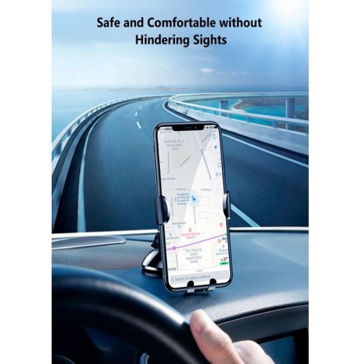 Giá đỡ điện thoại gắn taplo ô tô thương hiệu Baseus SUYL-XP01, xoay 360 độ - Hàng chính hãng