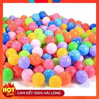 Bóng nhựa mềm cho bé (Túi 100 bóng) – Bóng mềm không làm tổn thương da bé. Đồ chơi vận động