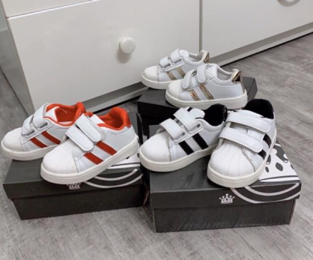 Giày thể thao 2 sọc hàng loại 1 kèm hộp cho bé