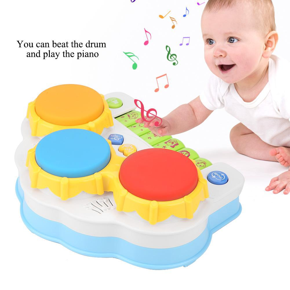 Safe Multifunctional Musical Drum Toy + Key Intelligent Toys