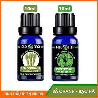Combo 2 tinh dầu Sả Chanh và Bạc Hà AROMA, tinh dầu thơm phòng nguyên chất thiên nhiên thumbnail