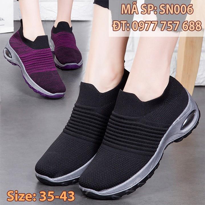 Giày thể thao form đẹp siêu bền siêu nhẹ cho mẹ phụ nữ trunng niên size 40 41 u40 u50 SN006
