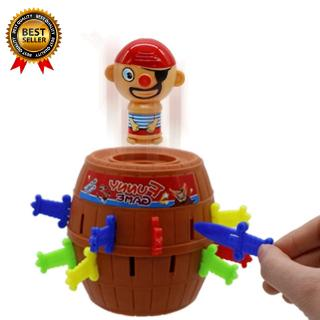 Kids Children Funny Lucky Stab Pop Up Toy Gadget Pirate Barrel Game Toy