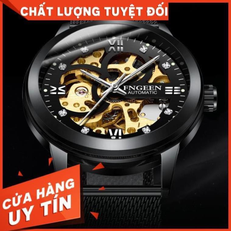 Đồng Hồ Nam AUTOMATIC FNGEEN Dây Hợp Kim Thép Không Gỉ Cao Cấp ( Mã: FC01)